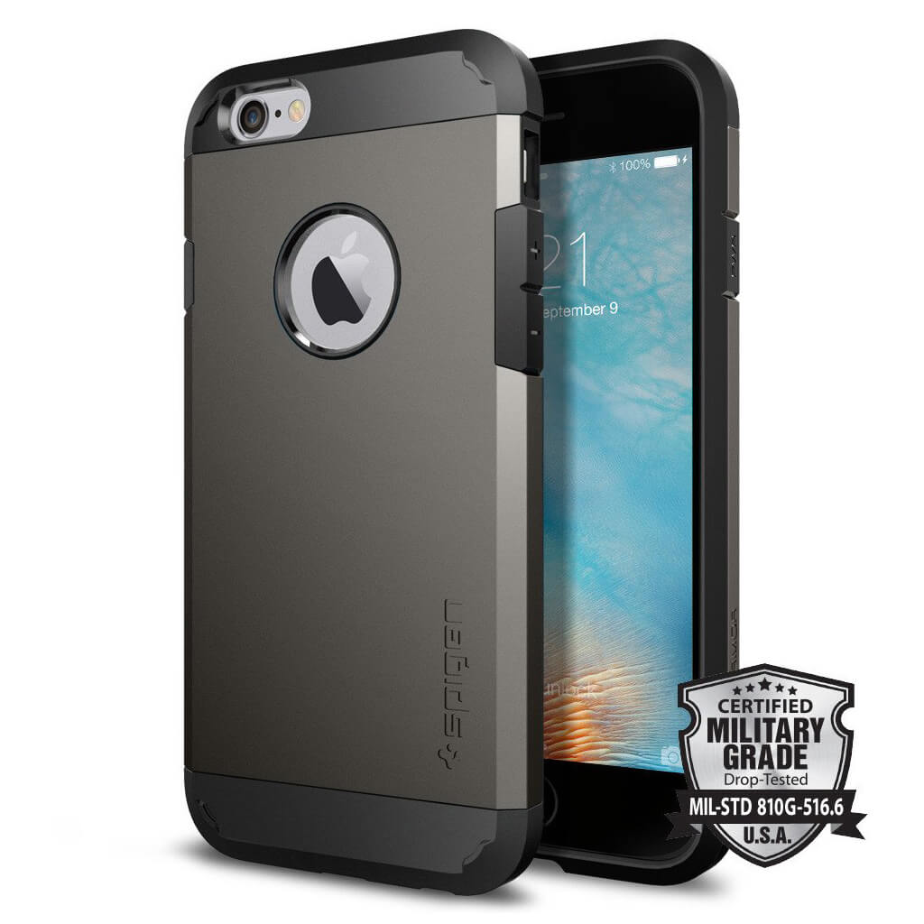 Spigen® Tough Armor SGP11612 iPhone 6s/6 Case – Gunmetal