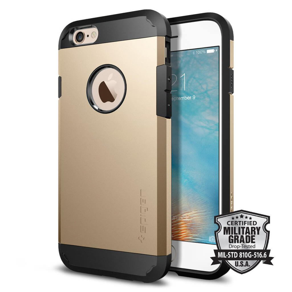 Spigen® Tough Armor SGP11613 iPhone 6s/6 Case – Champagne Gold