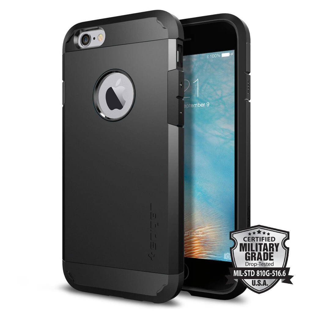 Spigen® Tough Armor SGP11614 iPhone 6s/6 Case – Black