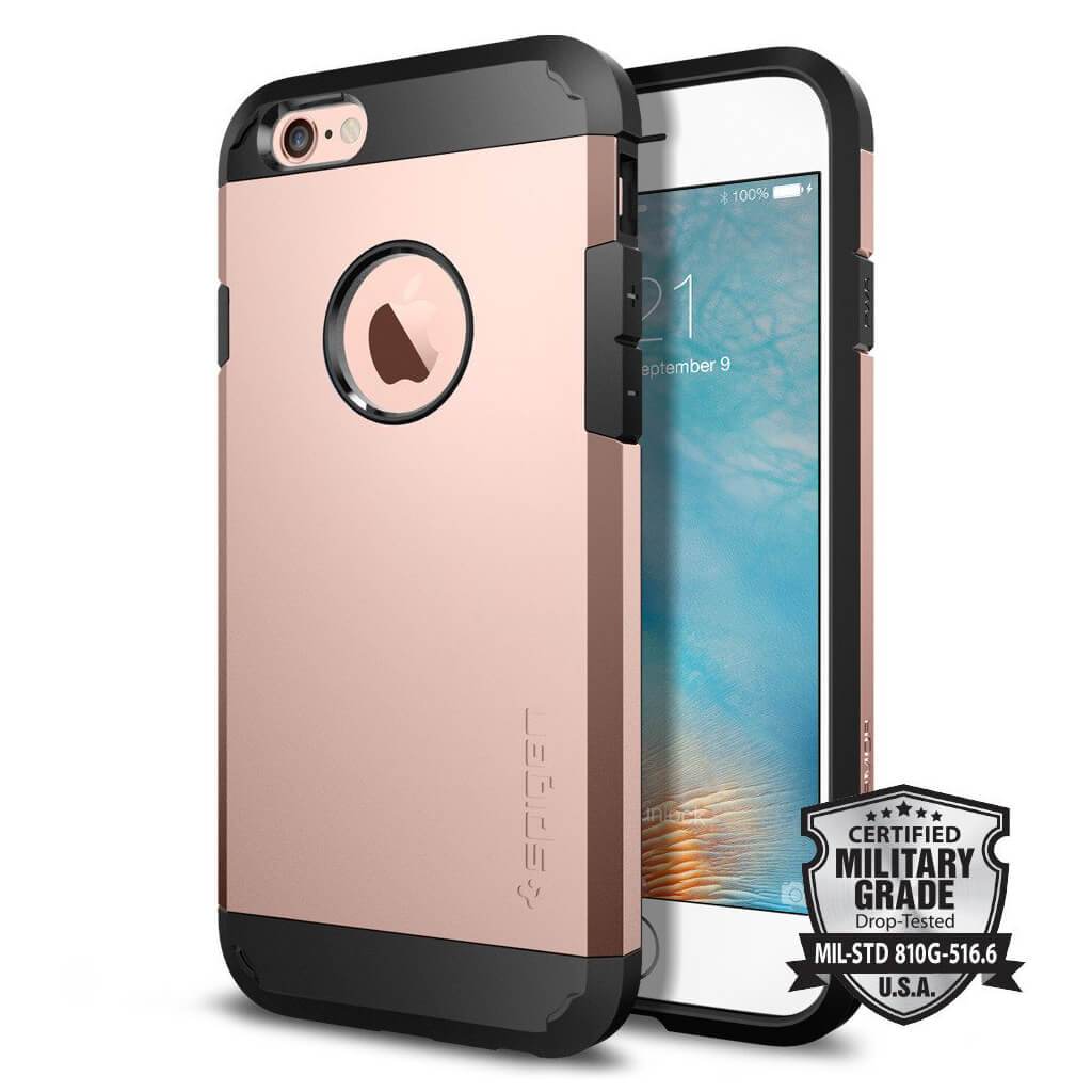 Spigen® Tough Armor SGP11741 iPhone 6s/6 Case – Rose Gold