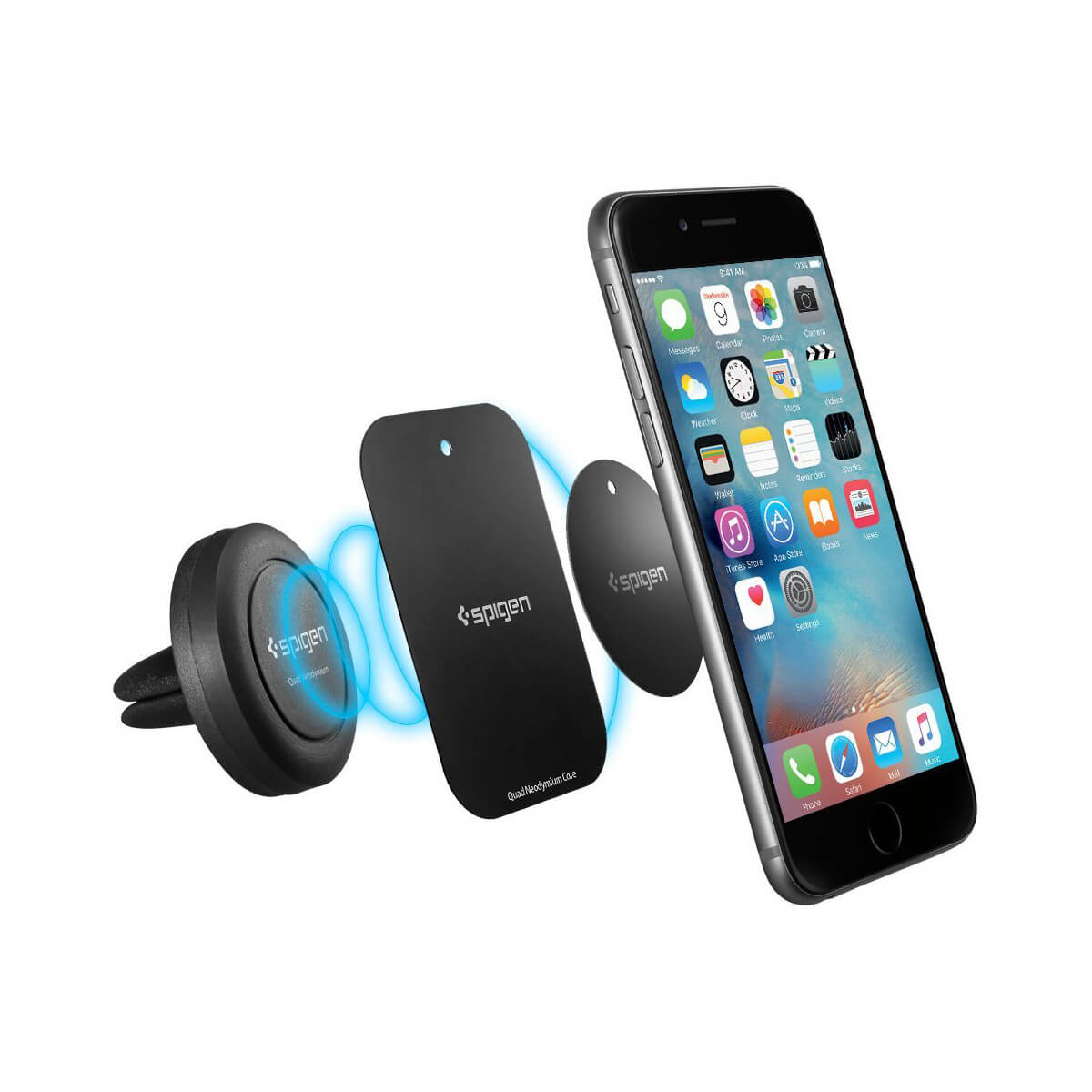 Spigen® Quad Neodymium Core™ SGP11583 Magnetic Air Vent Mount