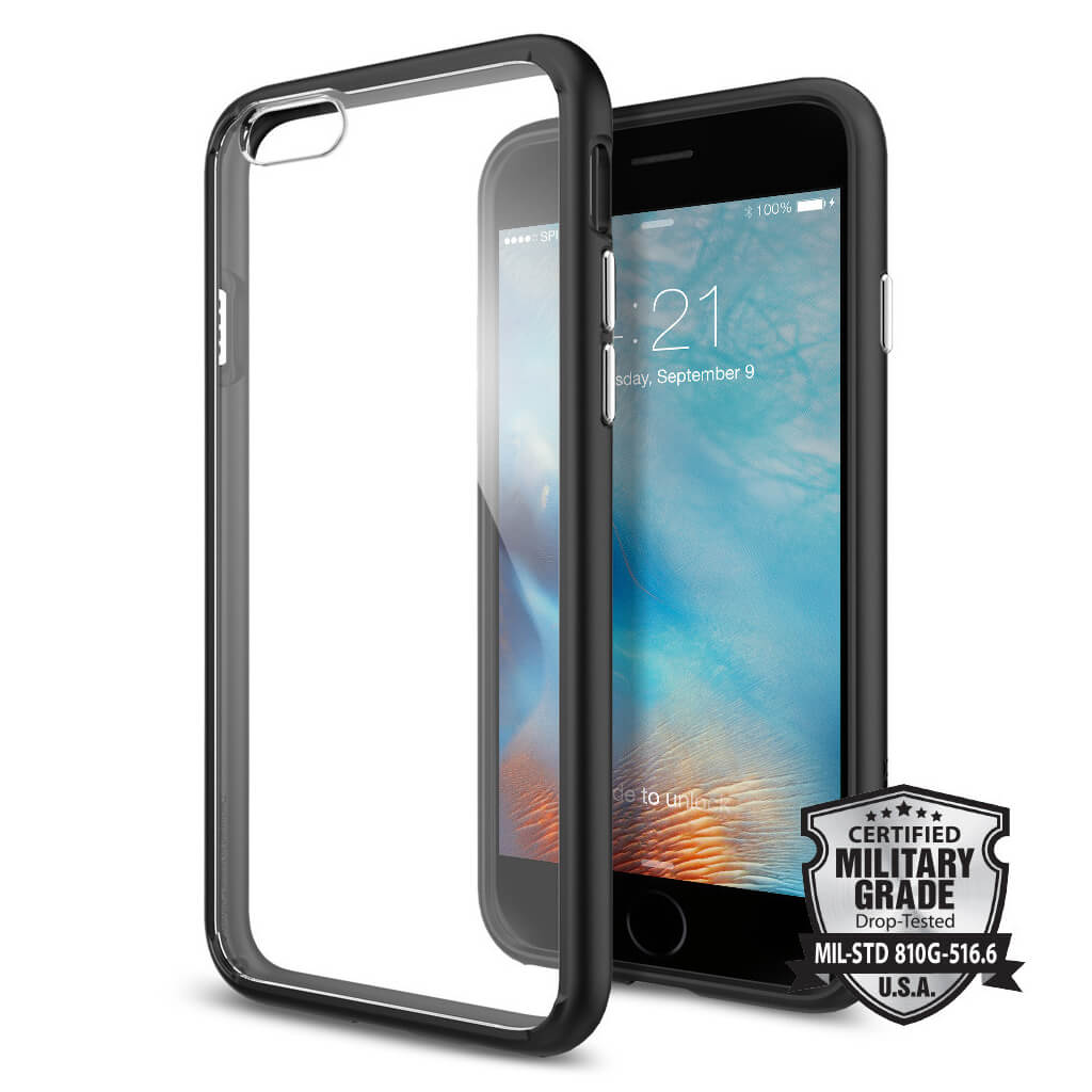 Spigen® Ultra Hybrid SGP11600 iPhone 6s/6 Case – Black