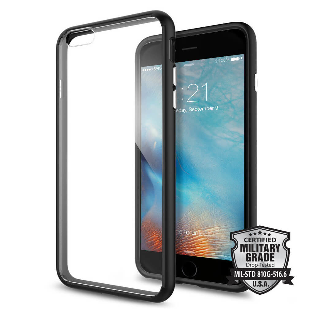 Spigen® Ultra Hybrid SGP11646 iPhone 6s Plus/6 Plus Case – Black