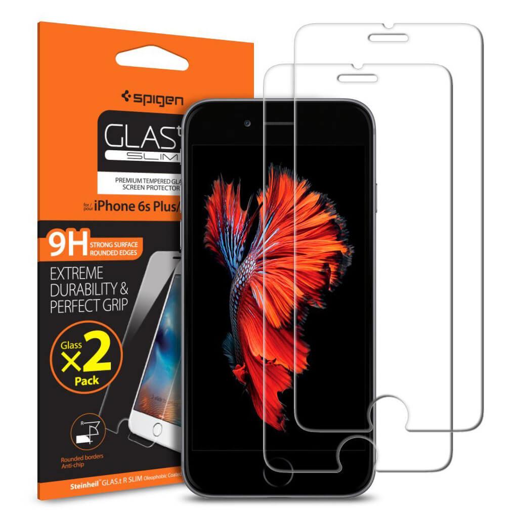 Spigen® [2Pack] GLAS.tR SLIM™ SGP11785 iPhone 6s Plus/6 Plus Premium Tempered Glass Screen Protector