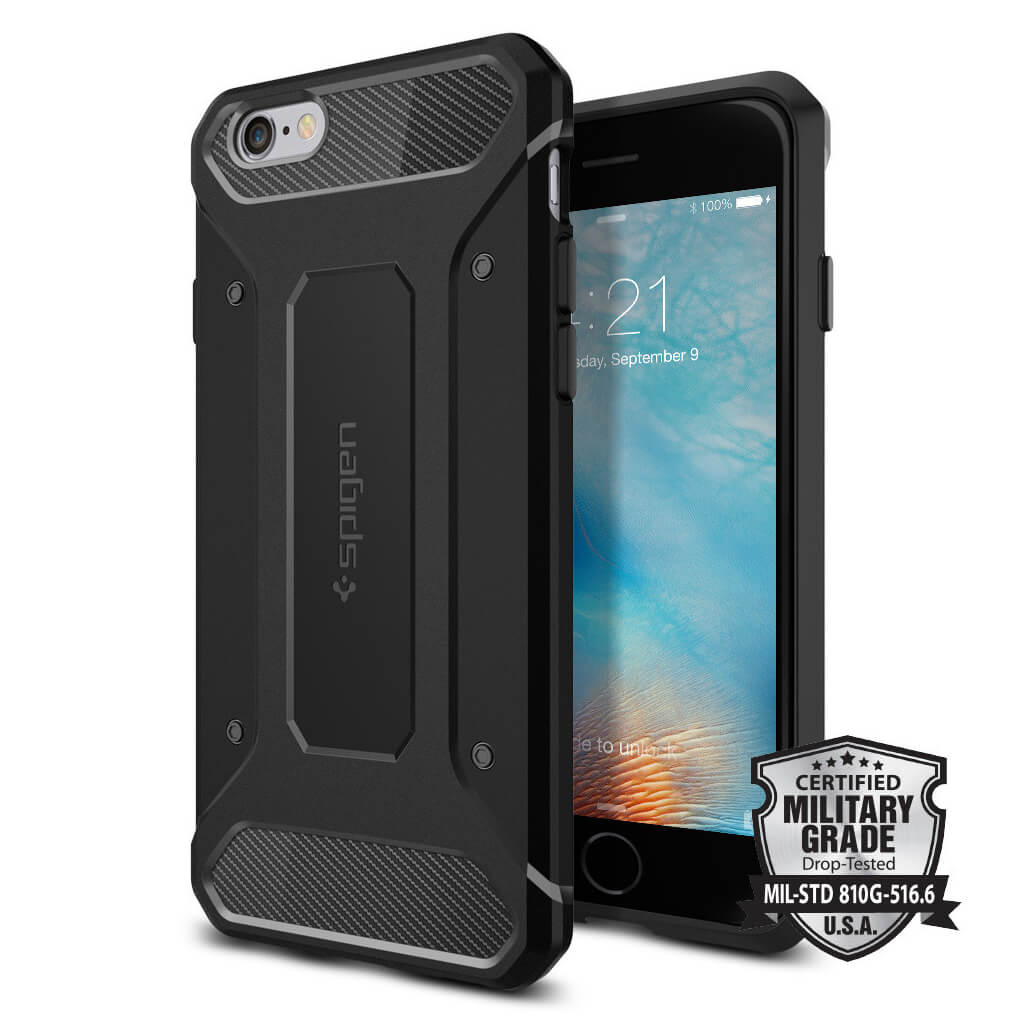 Spigen® Rugged Armor SGP11597 iPhone 6s/6 Case – Carbon Fiber