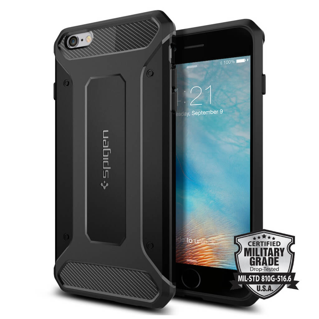 Spigen® Rugged Armor SGP11643 iPhone 6s Plus/6 Plus Case – Carbon Fiber
