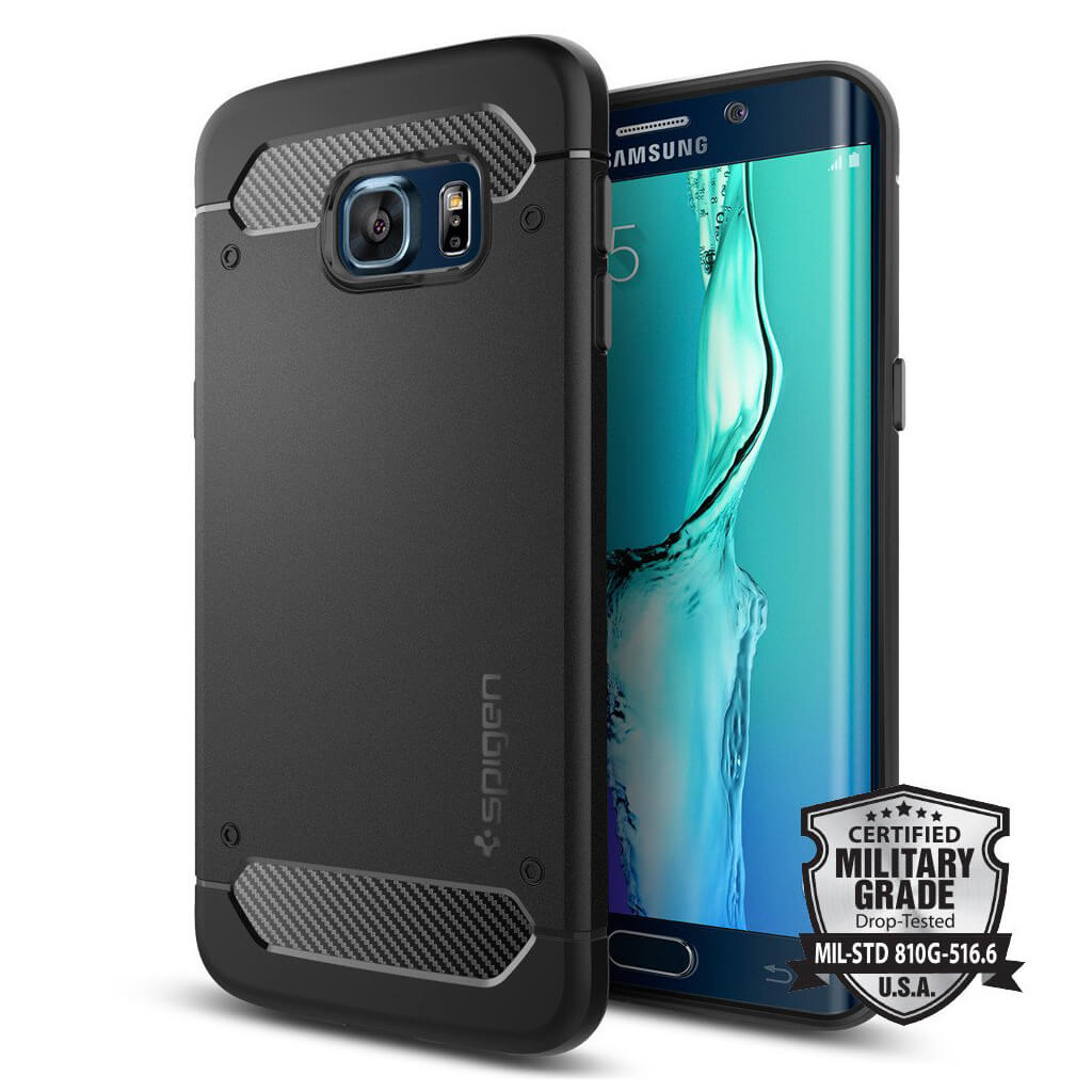 Spigen® Rugged Armor SGP11698 Samsung Galaxy S6 Edge+ Plus Case – Carbon Fiber