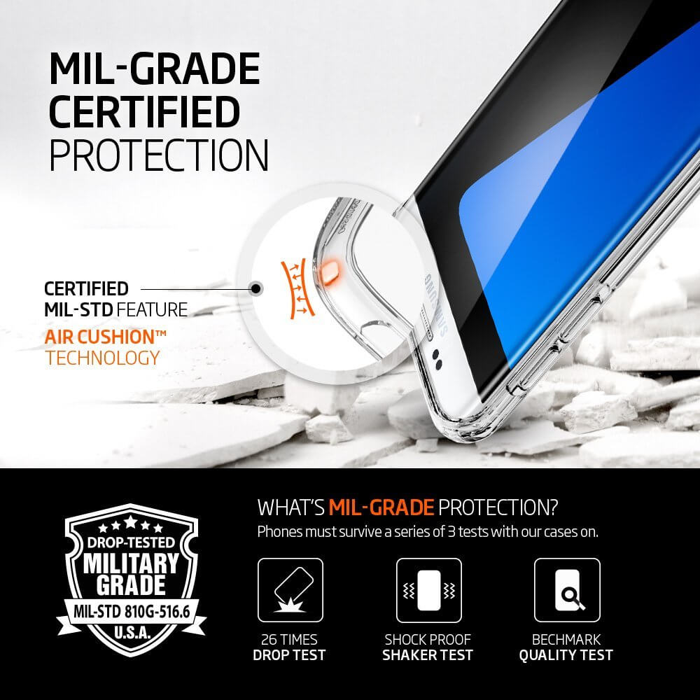 Spigen® Ultra Hybrid SGP 556CS20034 Samsung Galaxy S7 Edge Case – Crystal