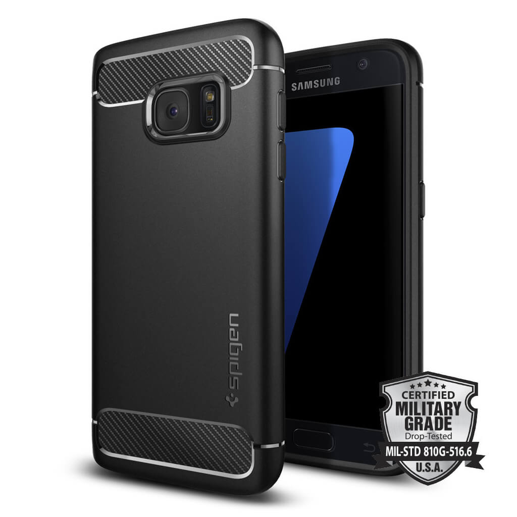 Spigen® Rugged Armor SGP 555CS20007 Samsung Galaxy S7 Case - Carbon Fiber