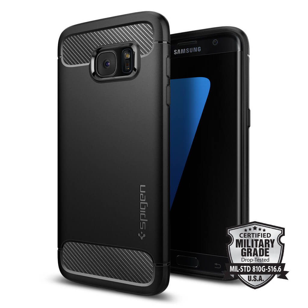 Spigen® Rugged Armor SGP 556CS20033 Samsung Galaxy S7 Edge Case - Carbon Fiber