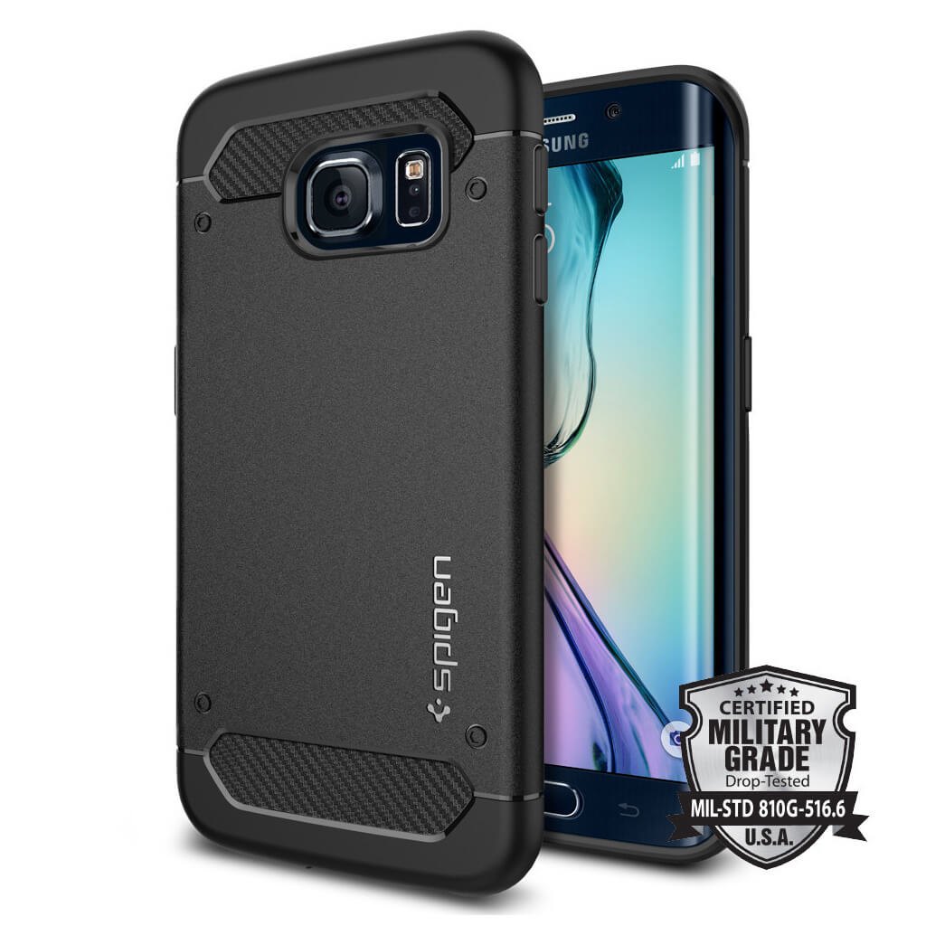 Spigen® Rugged Armor SGP11414 Samsung Galaxy S6 Edge Case – Carbon Fiber