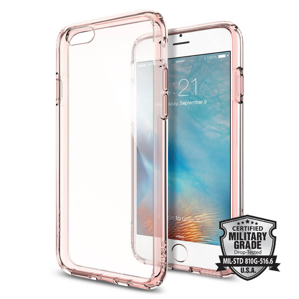 Spigen® Ultra Hybrid SGP11722 iPhone 6s/6 Case – Rose Crystal