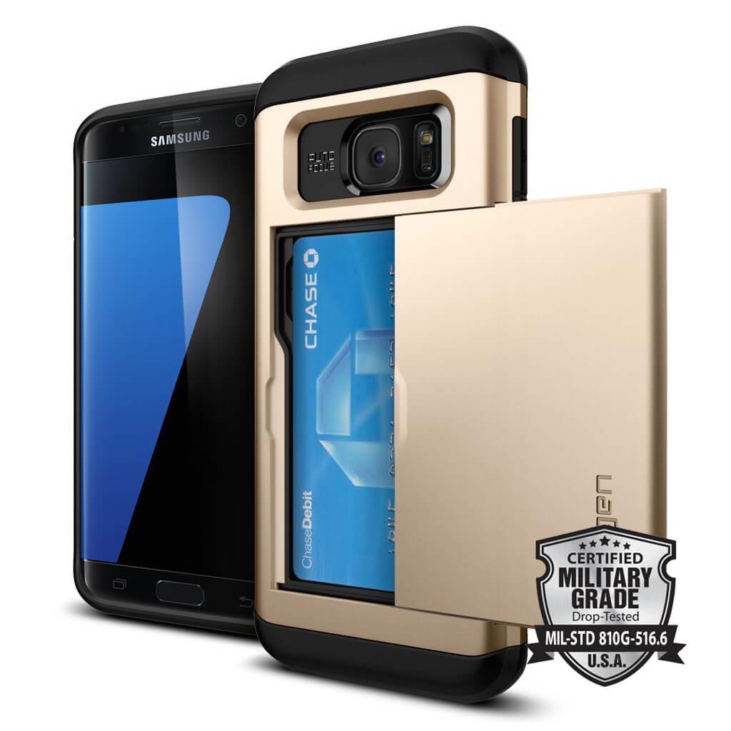 Spigen® Slim Armor CS SGP 556CS20256 Samsung Galaxy S7 Edge Case – Champagne Gold