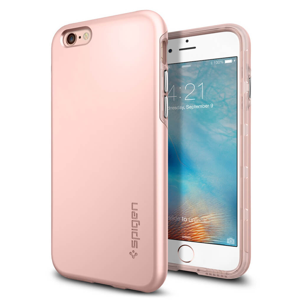 Spigen® Thin Fit Hybrid SGP11781 iPhone 6s/6 Case – Rose Gold