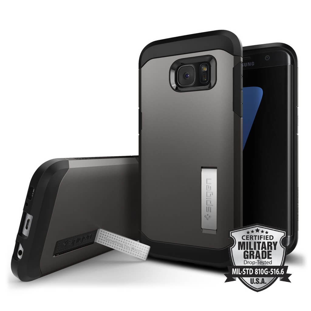 Spigen® Tough Armor SGP 556CS20043 Samsung Galaxy S7 Edge Case – Gunmetal
