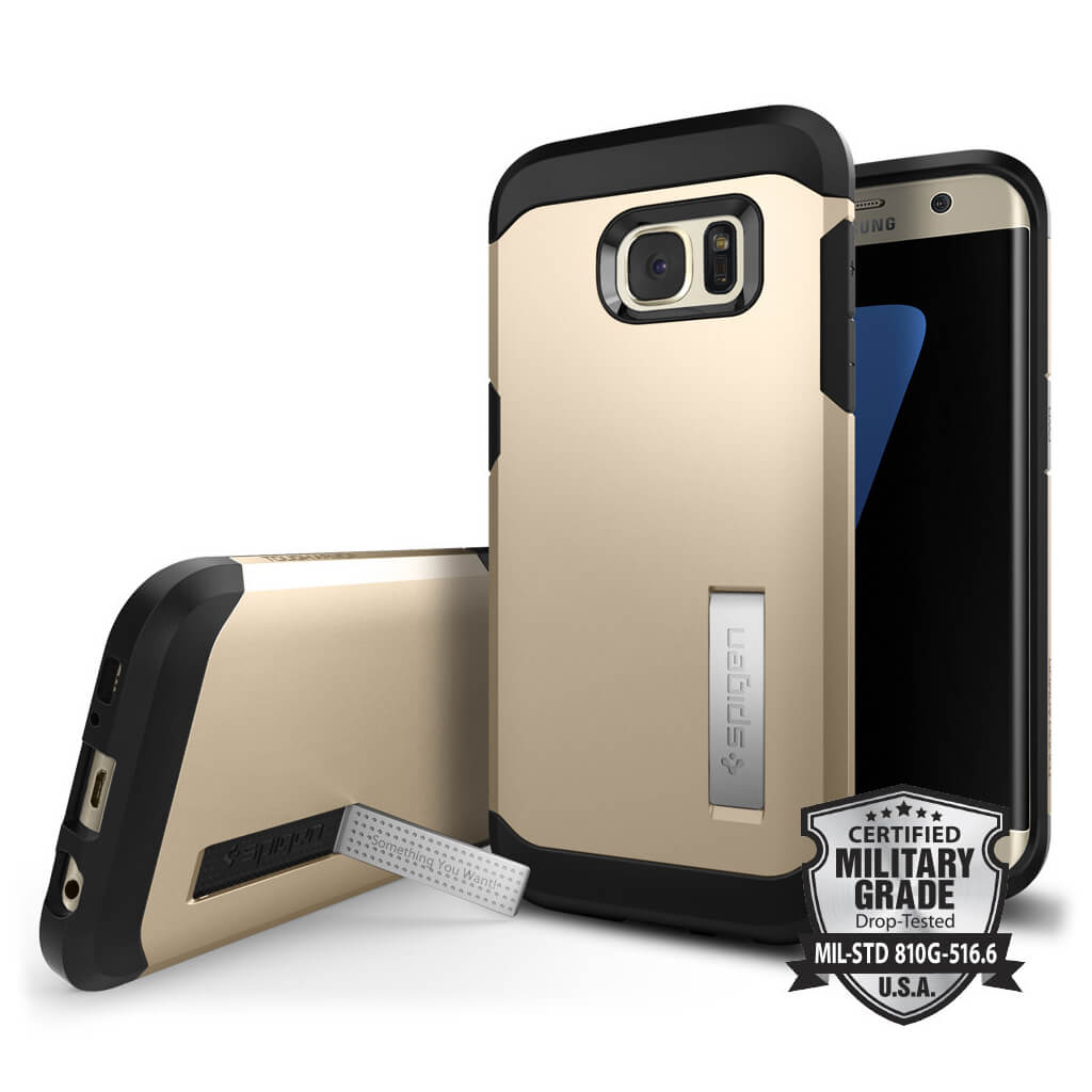 Spigen® Tough Armor SGP 556CS20044 Samsung Galaxy S7 Edge Case – Champagne Gold
