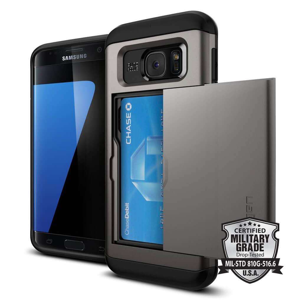 Spigen® Slim Armor CS SGP 556CS20255 Samsung Galaxy S7 Edge Case – Gunmetal