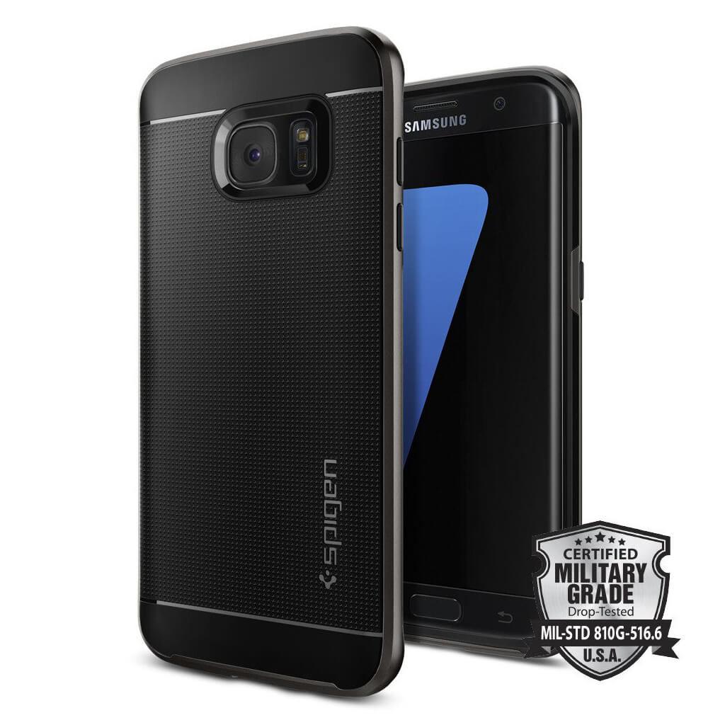 Spigen® Neo Hybrid™ SGP 556CS20143 Samsung Galaxy S7 Edge Case - Gunmetal