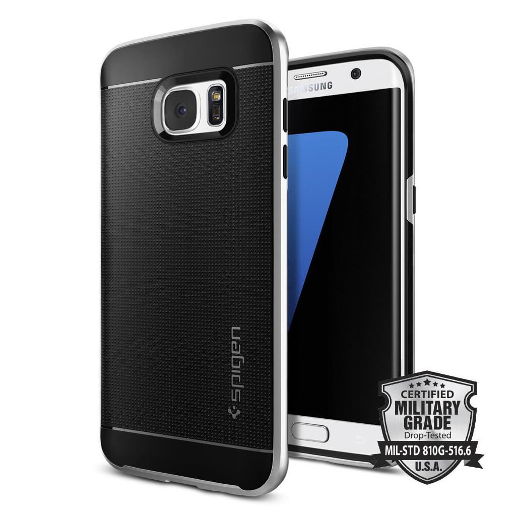 Spigen® Neo Hybrid™ SGP 556CS20144 Samsung Galaxy S7 Edge Case - Satin Silver