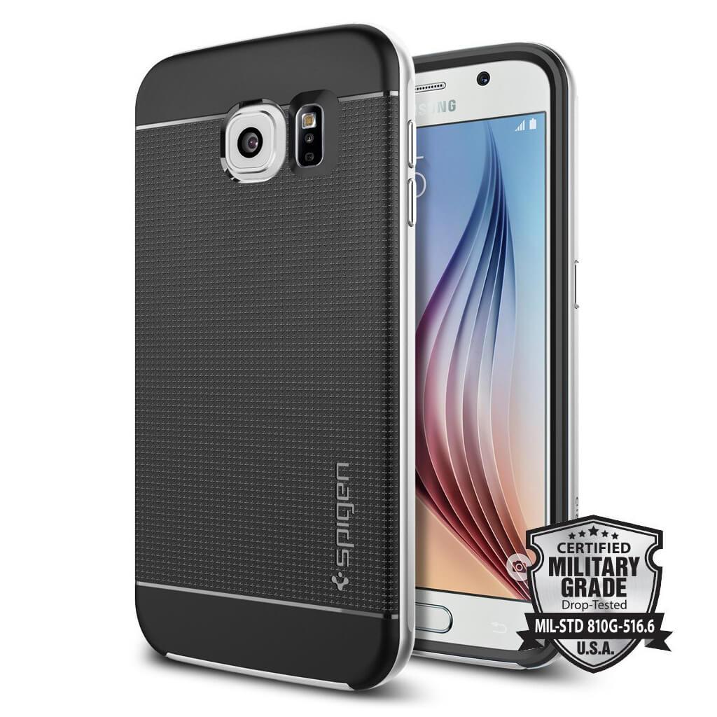 Spigen® Neo Hybrid™ SGP11320 Samsung Galaxy S6 Case - Satin Silver