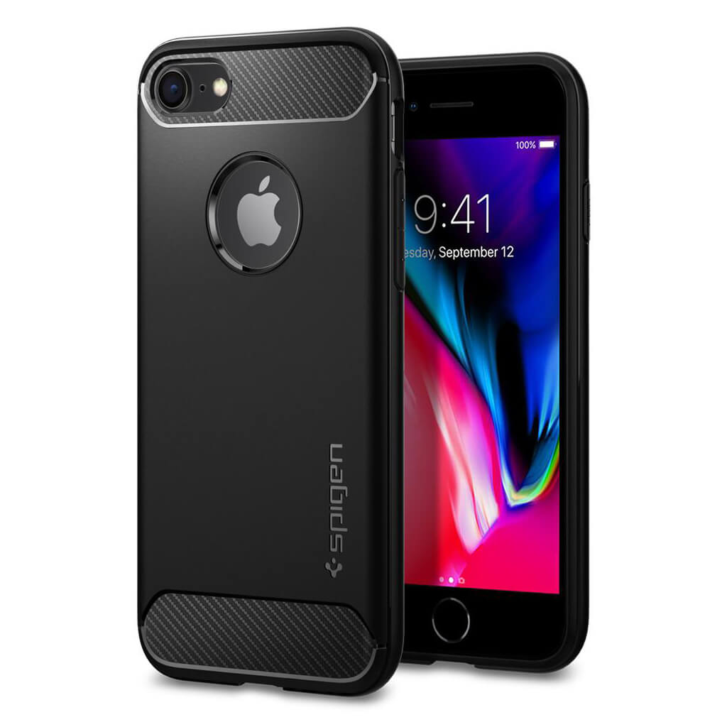 Spigen® Rugged Armor™ 042CS20441 iPhone 8 / 7 Case - Black