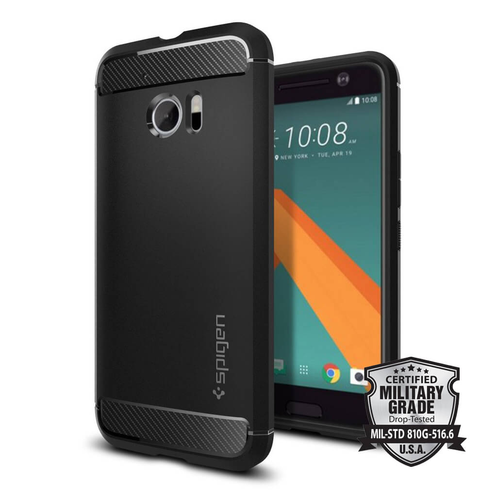 Spigen® Rugged Armor™ SGP H09CS20276 HTC 10 - Carbon Fiber