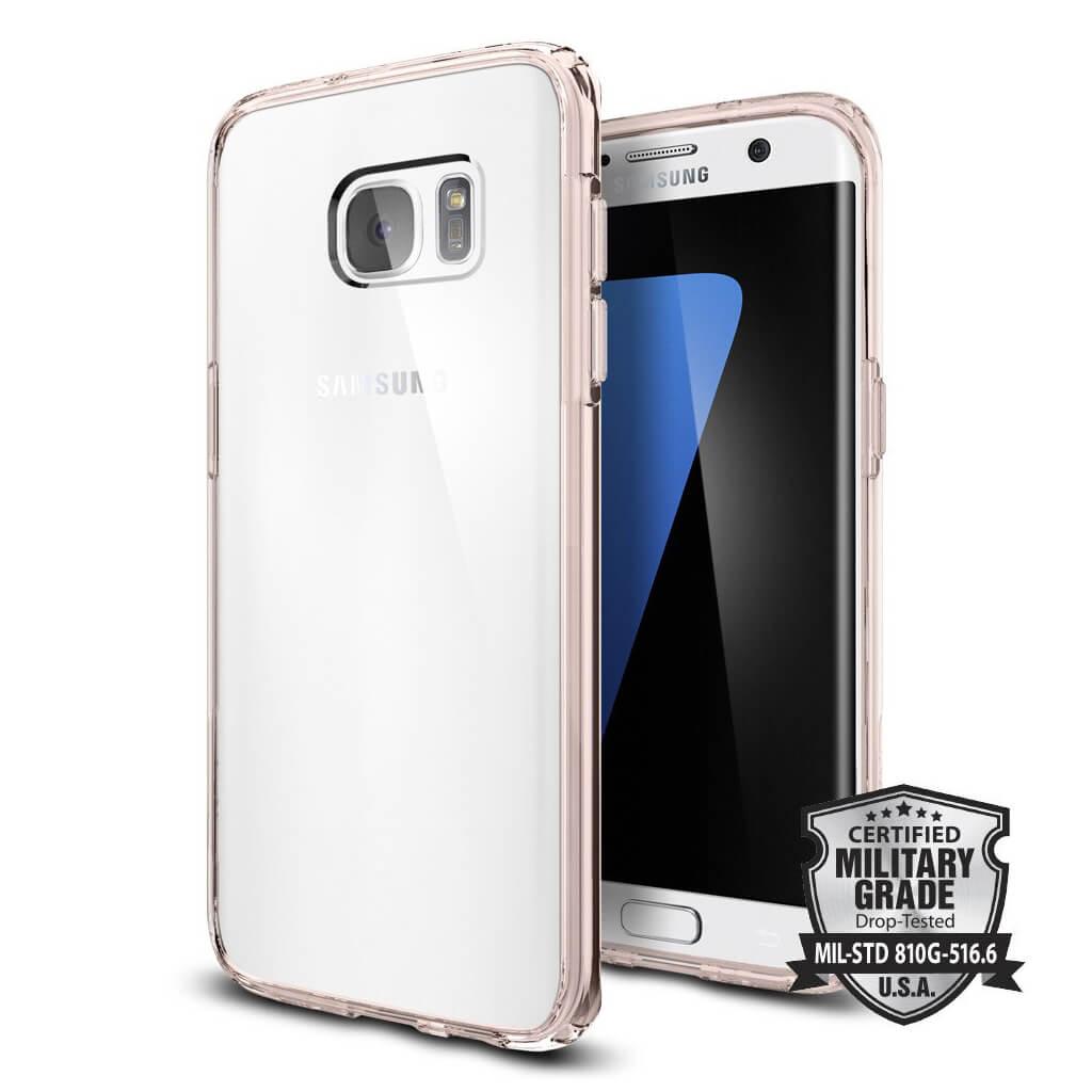 Spigen® Ultra Hybrid 556CS20035 Samsung Galaxy S7 Edge Case - Rose Crystal