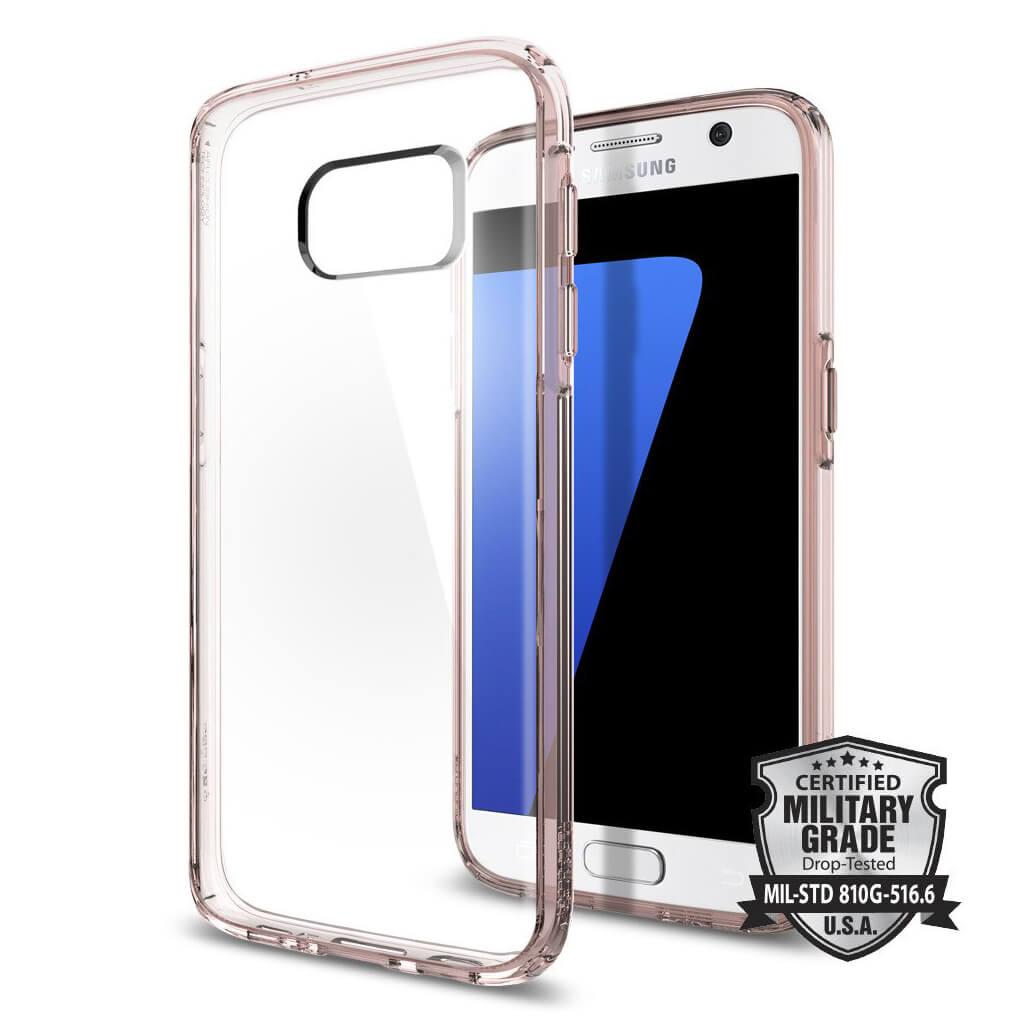 Spigen® Ultra Hybrid™ SGP 555CS20010 Samsung Galaxy S7 Case - Rose Crystal