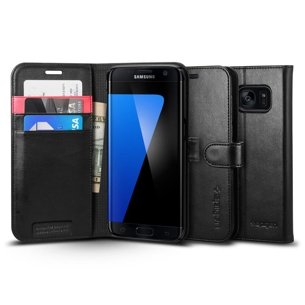 Spigen® Wallet S™ SGP 556CS20050 Samsung Galaxy S7 Edge Case - Black