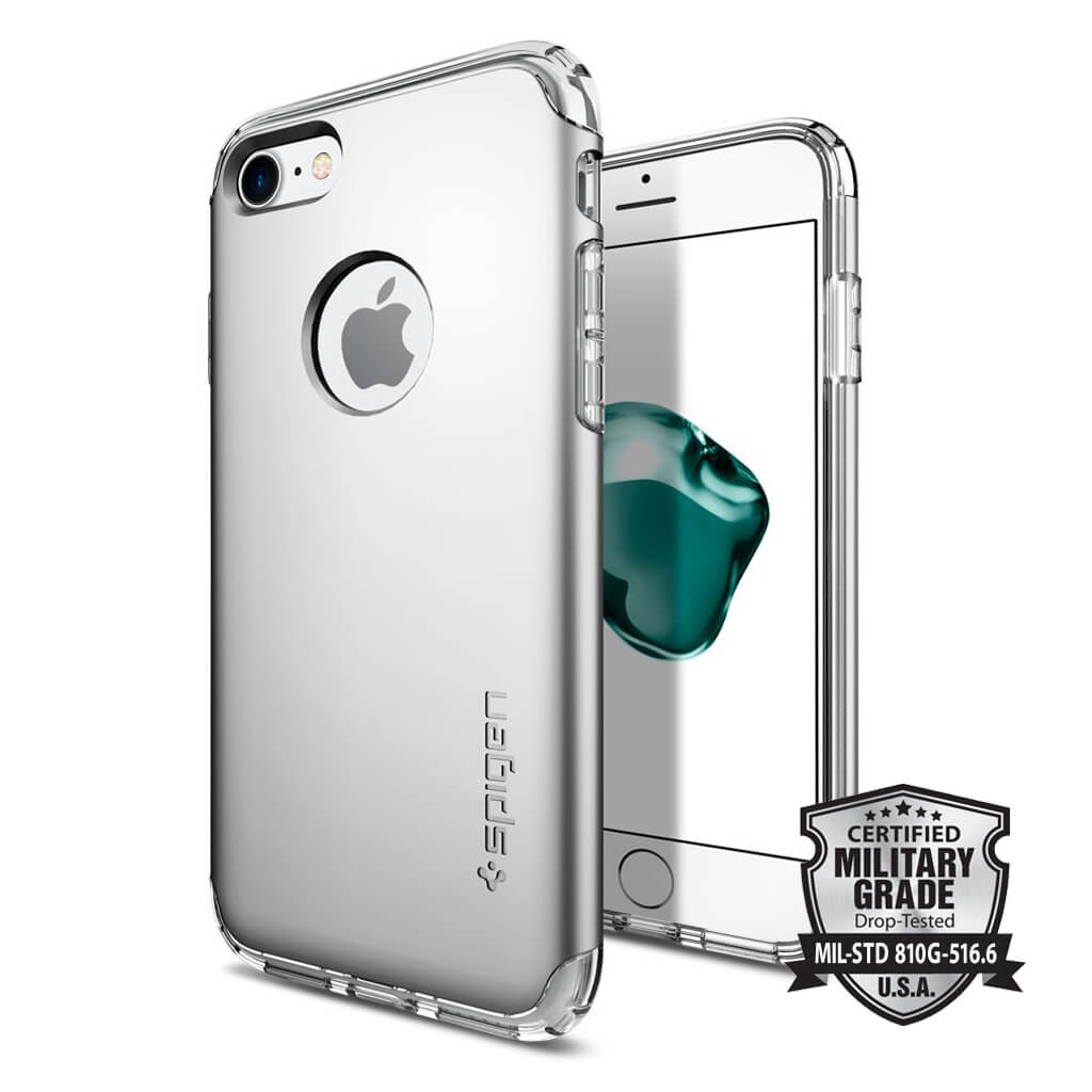 Spigen® Hybrid Armor™ SGP 042CS20694 iPhone 7 Case - Satin Silver