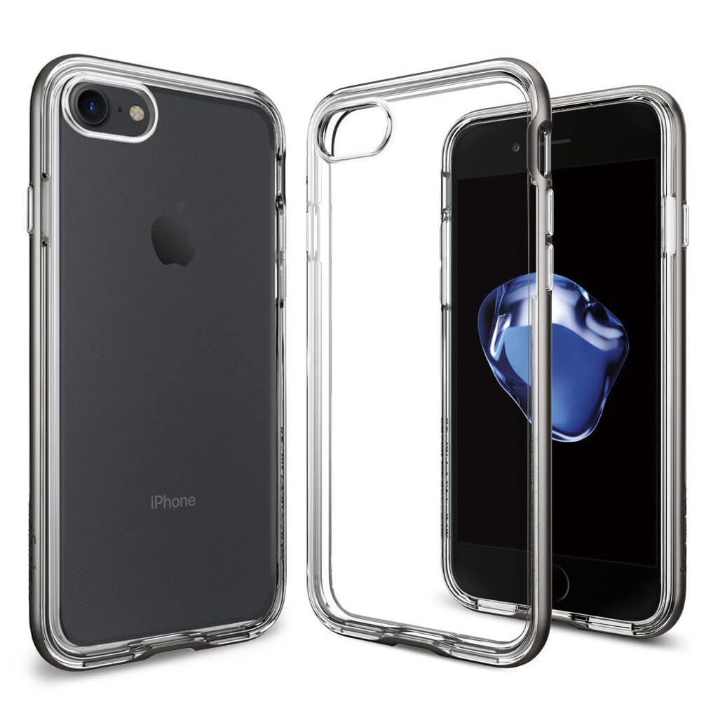 Spigen® Neo Hybrid Crystal™ SGP 042CS20522 iPhone 7 Case - Gunmetal