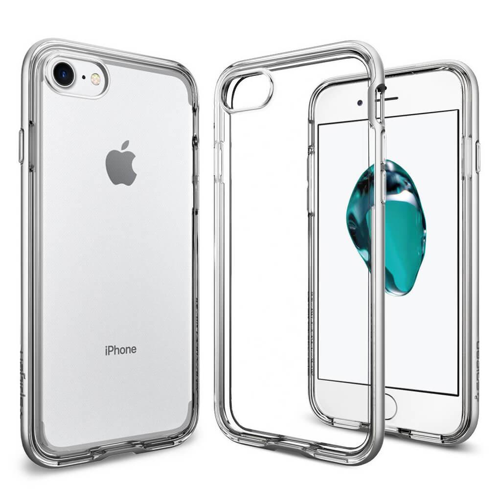 Spigen® Neo Hybrid Crystal™ SGP 042CS20676 iPhone 7 Case - Satin Silver