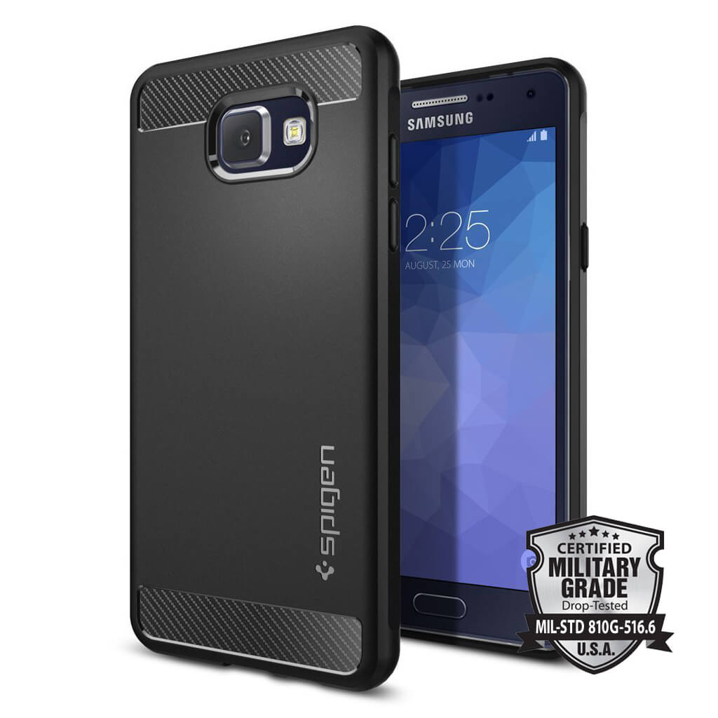 Spigen® Rugged Armor™ SGP11834 Samsung Galaxy A5 (2016) Case - Carbon Fiber