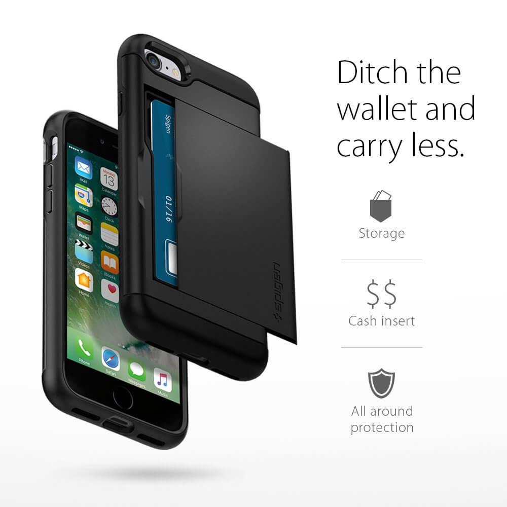 Spigen® Slim Armor™ CS SGP 042CS20455 iPhone 7 Case - Black