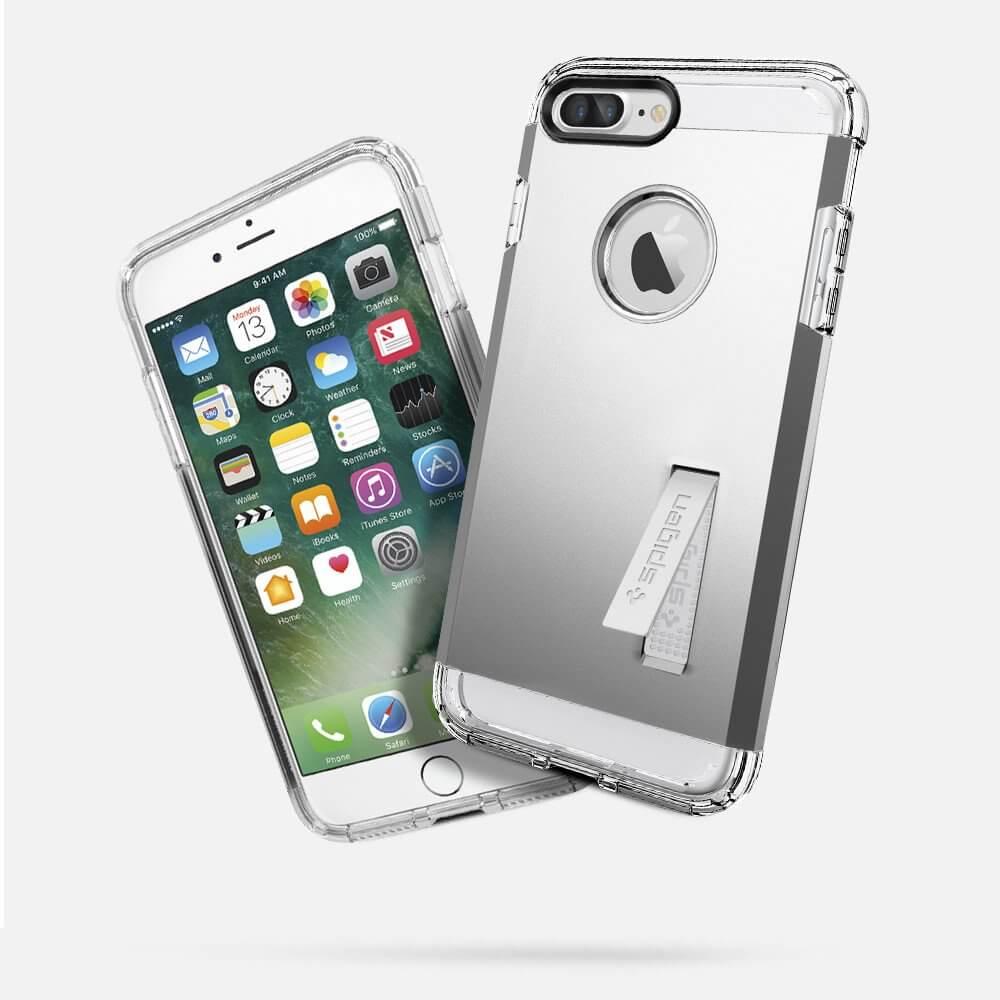 Spigen® Tough Armor™ SGP 043CS20681 iPhone 7 Plus Case - Satin Silver