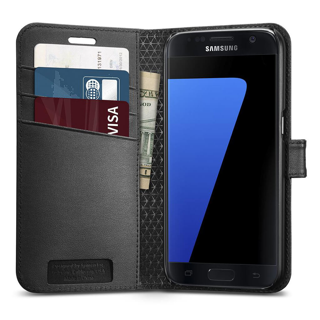 Spigen® Wallet S™ 555CS20027 Samsung Galaxy S7 Case - Black