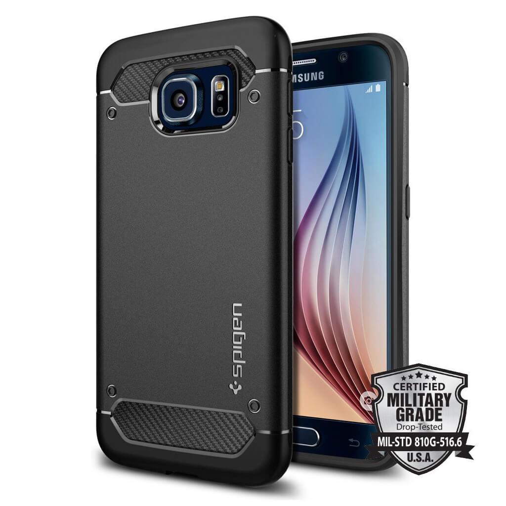 Spigen® Rugged Armor™ SGP11439 Samsung Galaxy S6 Case - Carbon Fiber