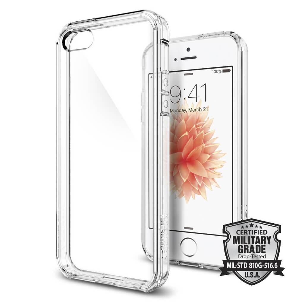 Spigen® Ultra Hybrid™ SGP 041CS20171 iPhone SE/5s/5 Case - Crystal Clear