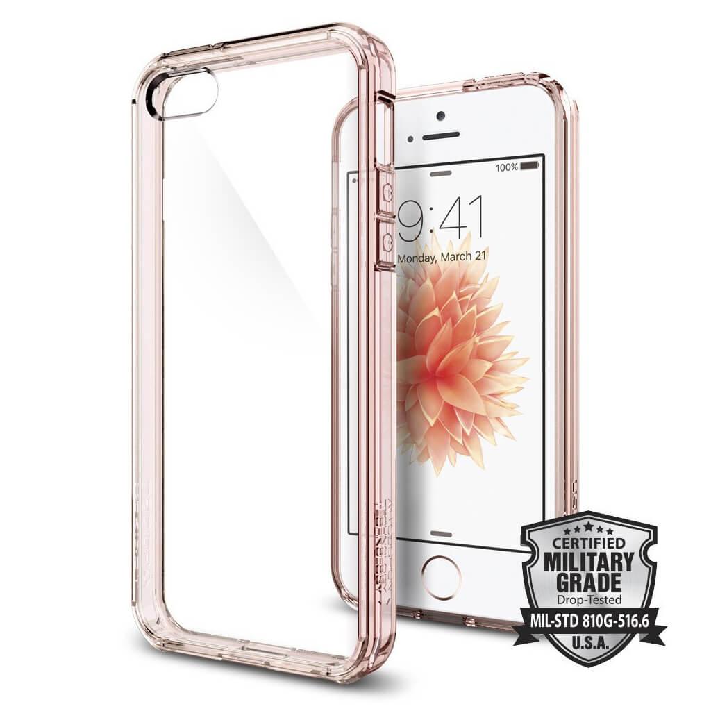 Spigen® Ultra Hybrid™ SGP 041CS20172 iPhone SE/5s/5 Case - Rose Crystal