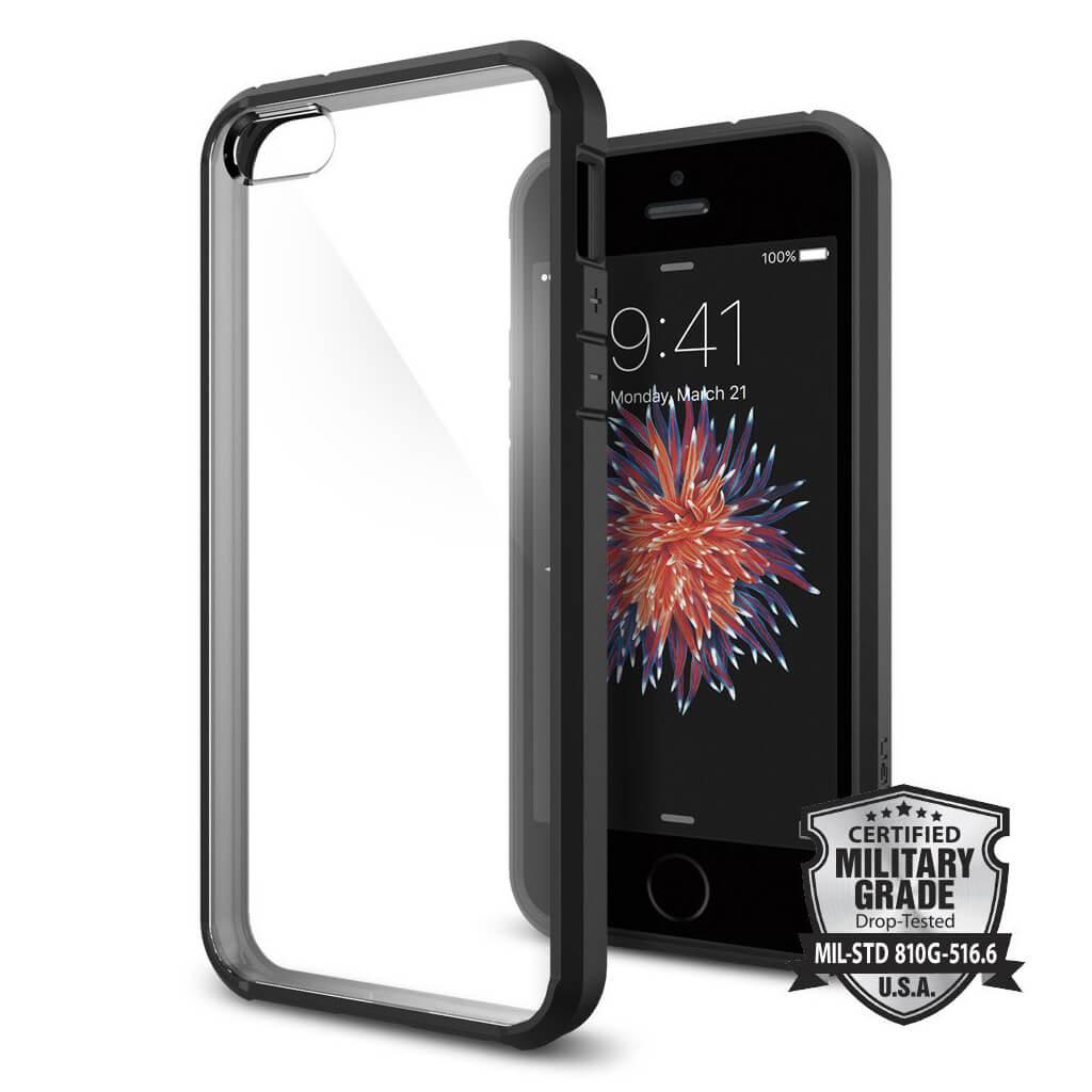 Spigen® Ultra Hybrid™ SGP 041CS20173 iPhone SE/5s/5 Case - Black