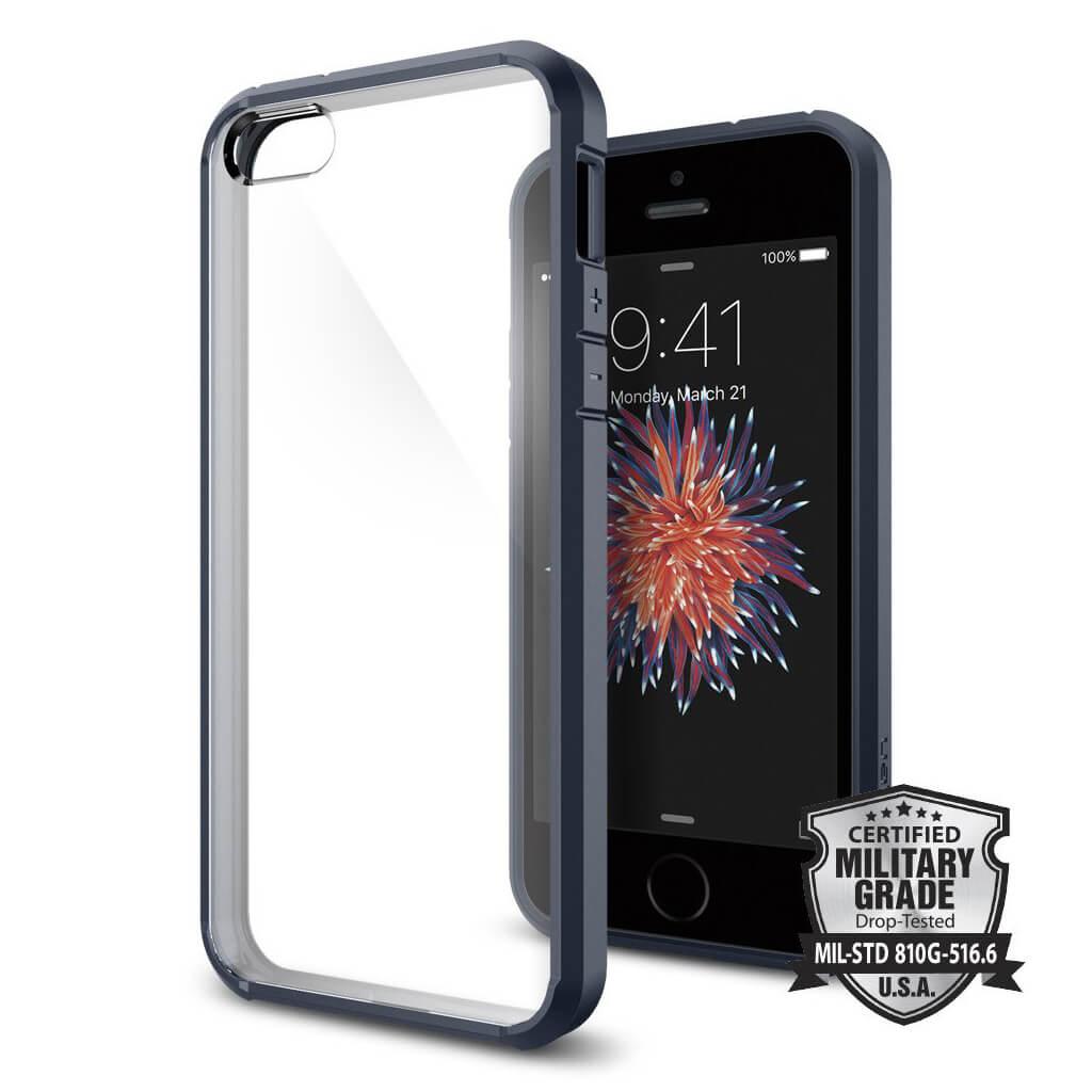 Spigen® Ultra Hybrid™ SGP 041CS20248 iPhone SE/5s/5 Case - Metal Slate