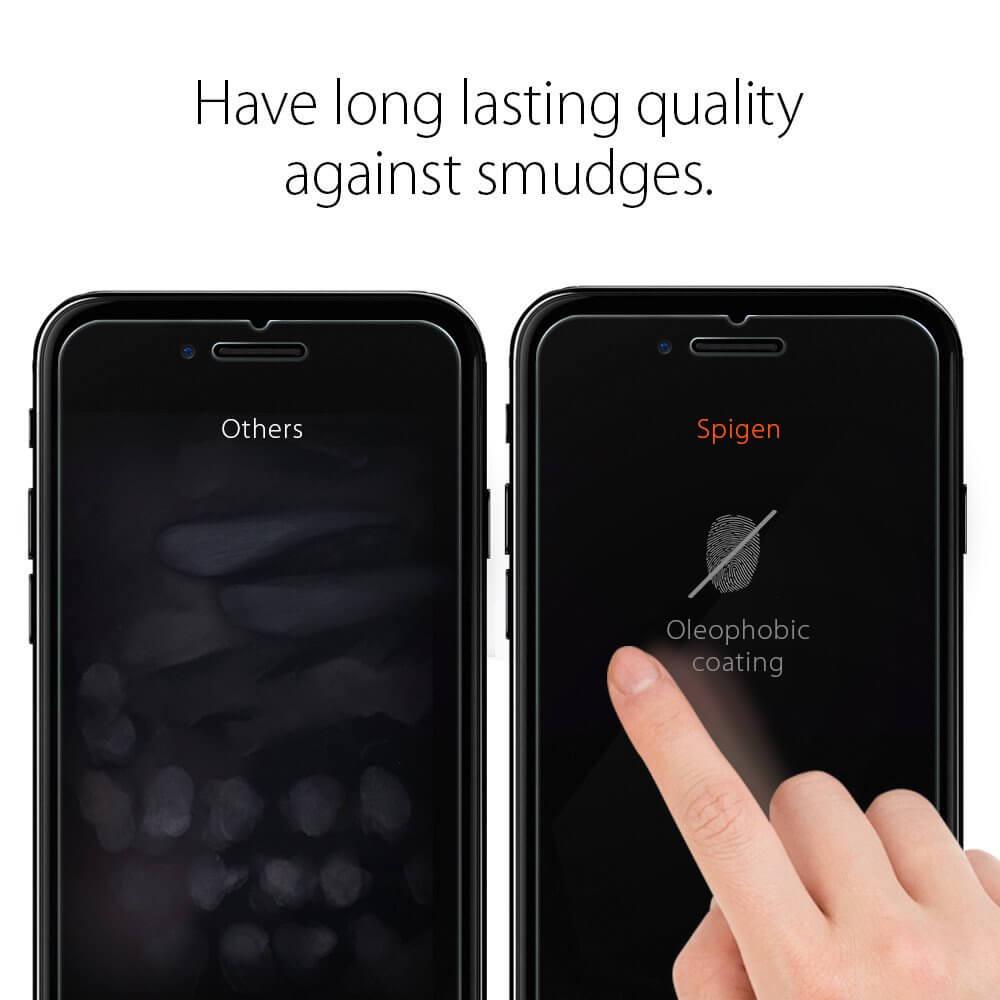 Spigen® x2 Pack GLAS.tR SLIM™ SGP 043GL20801 iPhone 7 Plus Premium Real Glass