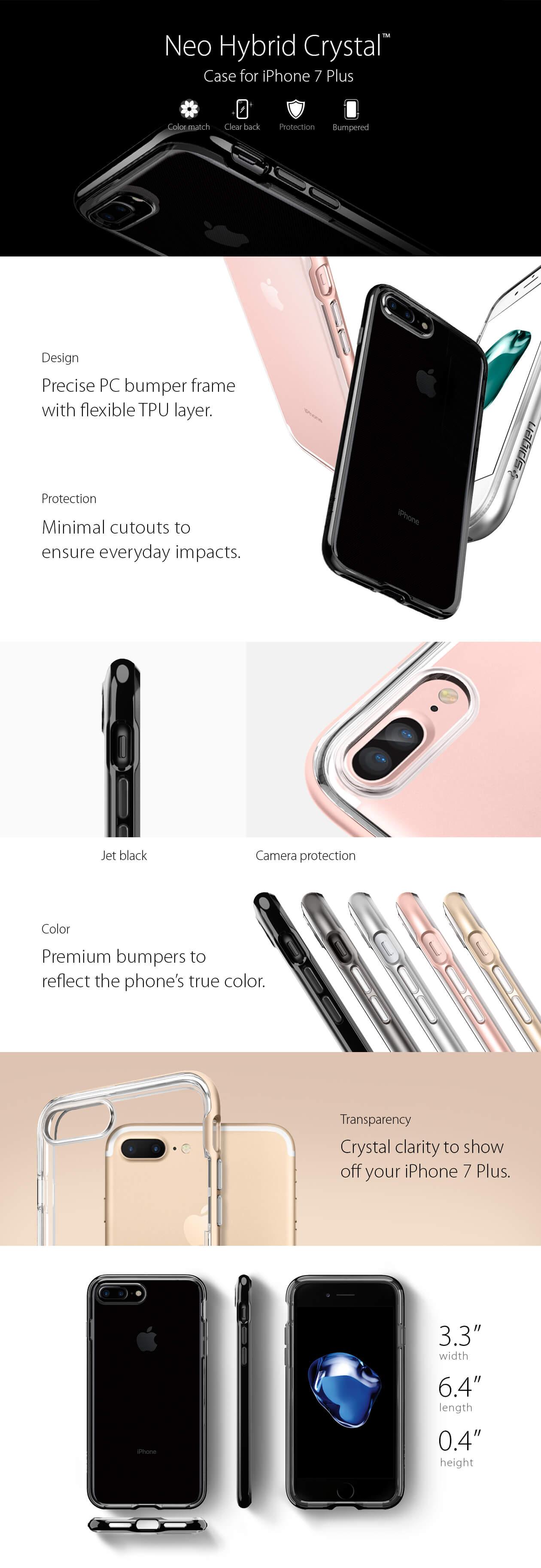 Spigen® Neo Hybrid Crystal™ iPhone 7 Plus Case