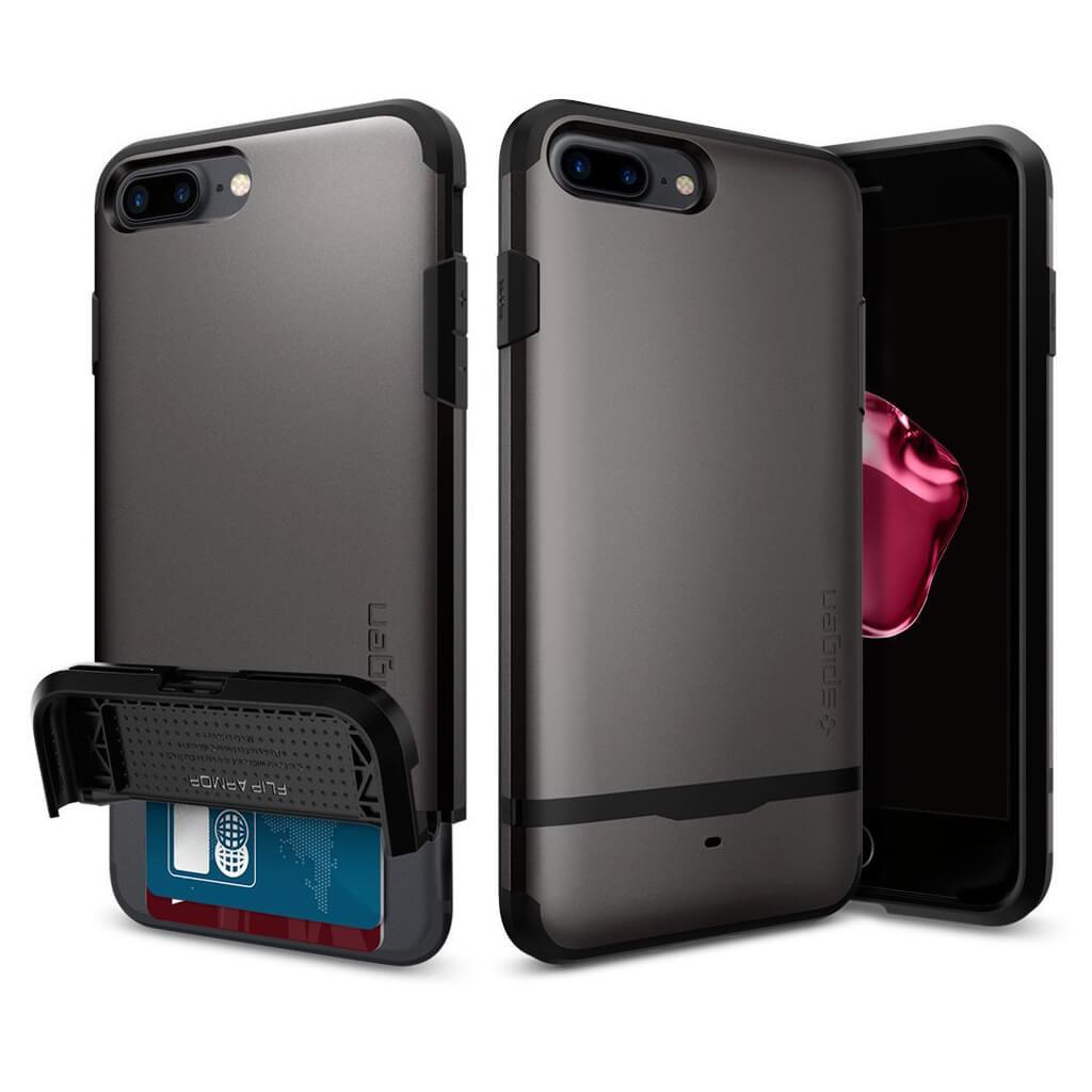 Spigen® Flip Armor™ 043CS20776 iPhone 7 Plus Case – Gunmetal