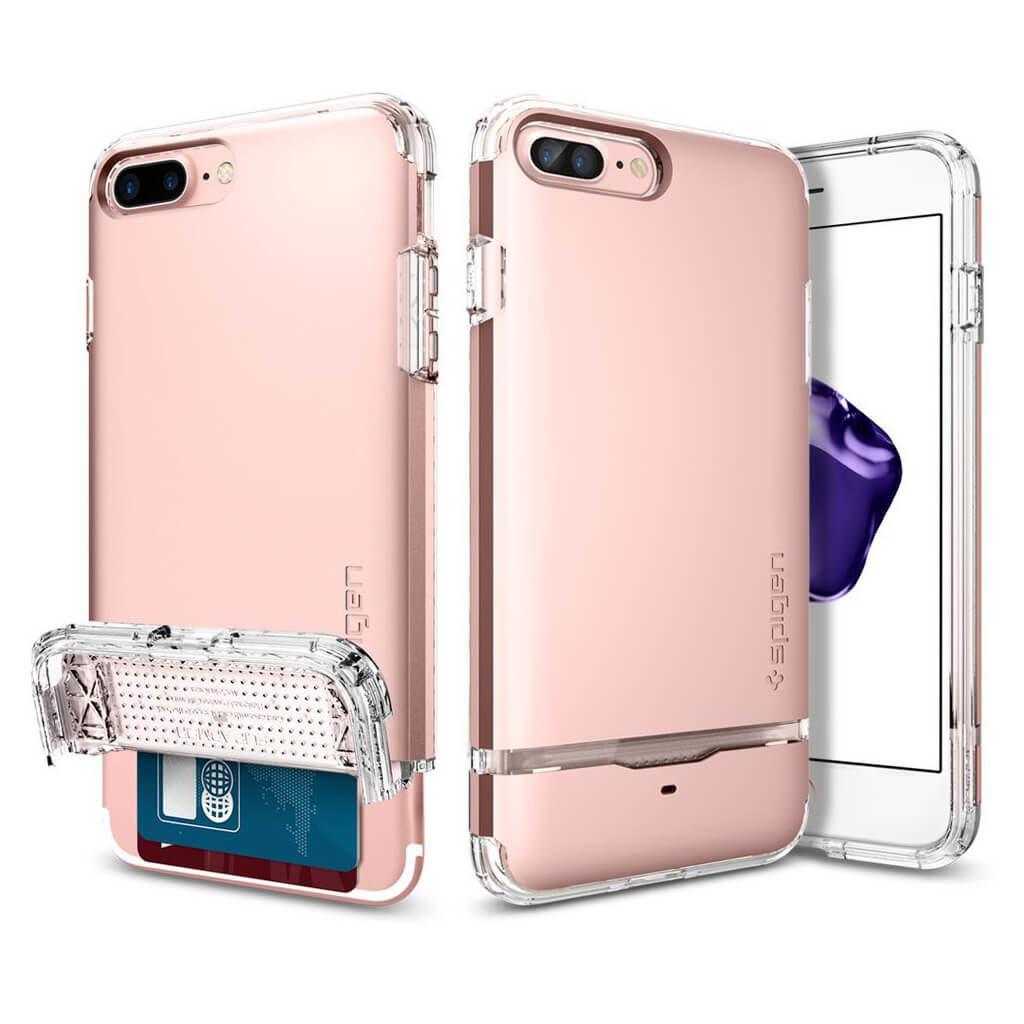 Spigen® Flip Armor™ 043CS20821 iPhone 7 Plus Case – Rose Gold