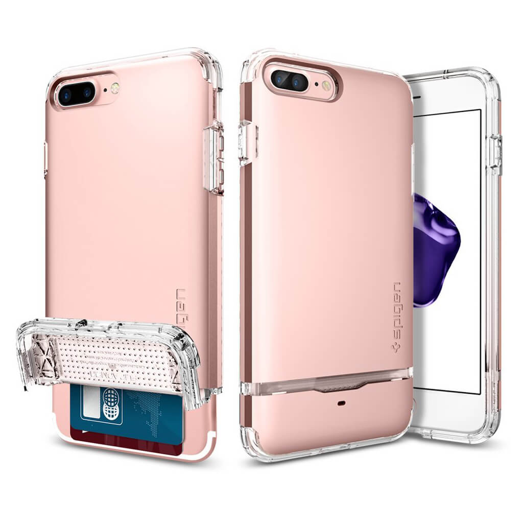 Spigen® Flip Armor™ 043CS20821 iPhone 7 Plus Case – Rose Gold