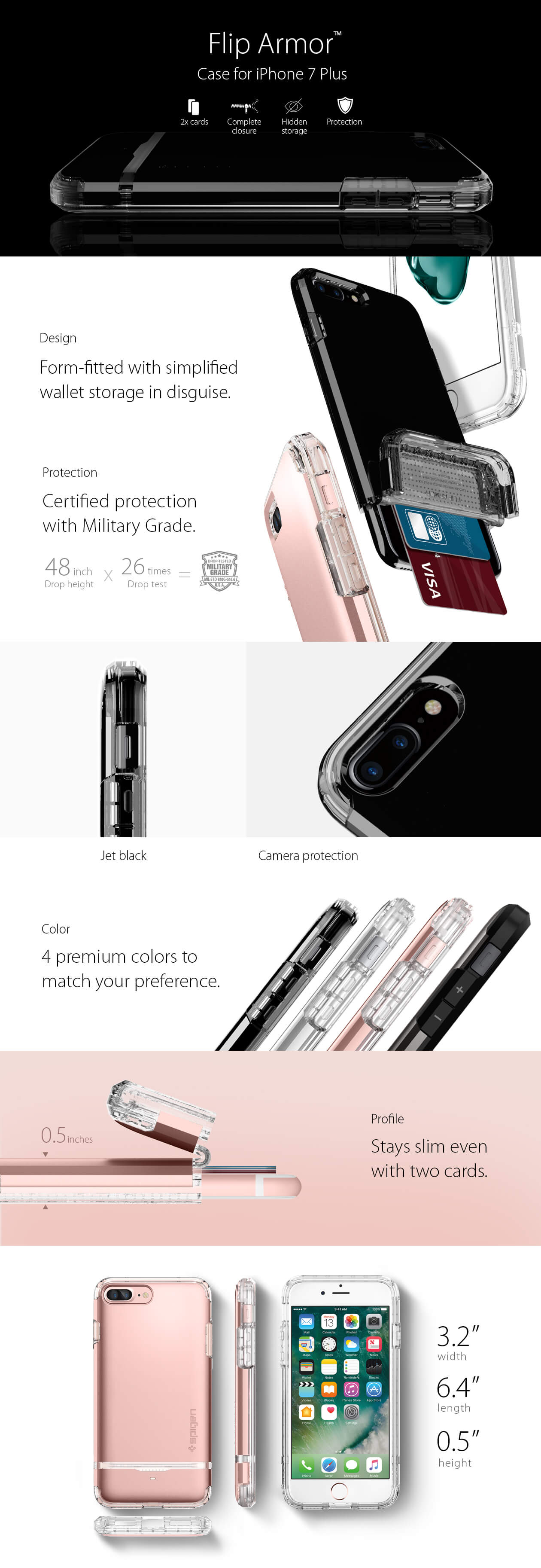 Spigen® Flip Armor™ iPhone 7 Plus Case