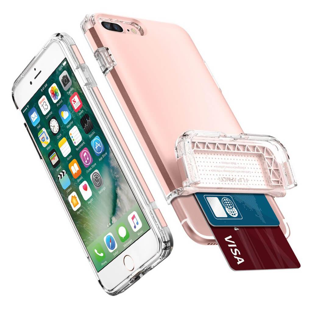 Spigen® Flip Armor™ SGP 043CS20821 iPhone 7 Plus Case - Rose Gold