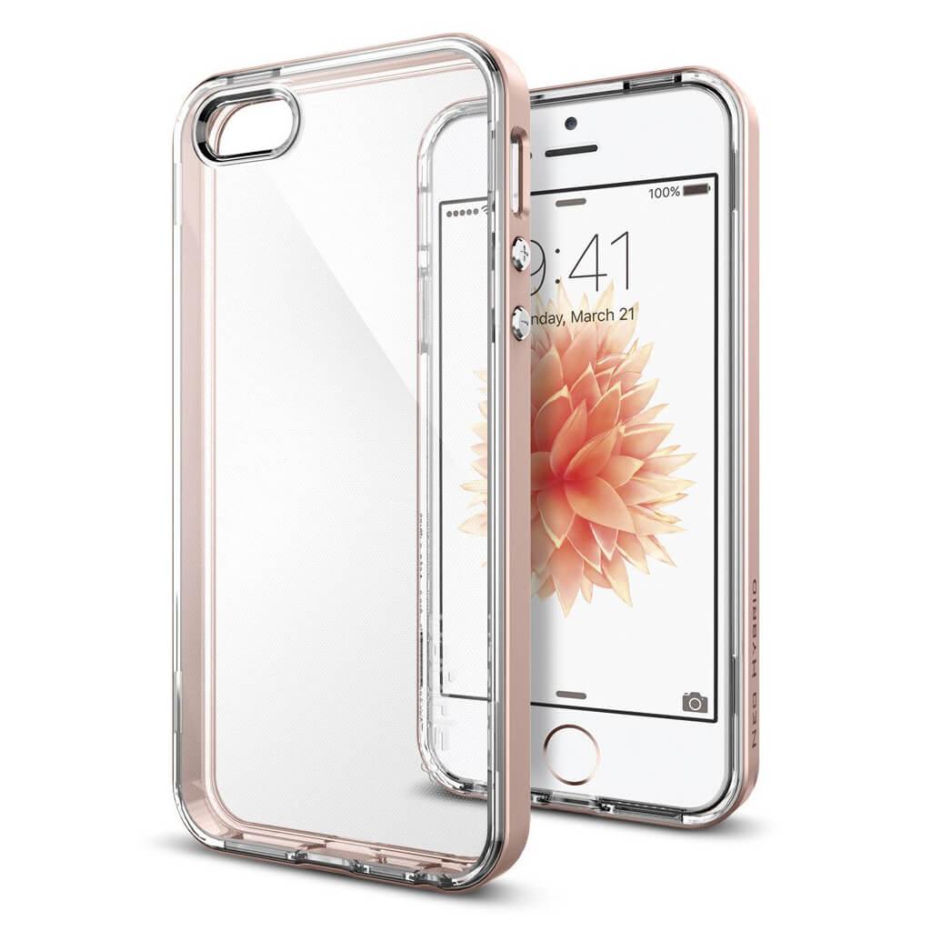 Spigen® Neo Hybrid Crystal™ SGP 041CS20183 iPhone SE/5s/5 Case - Rose Gold