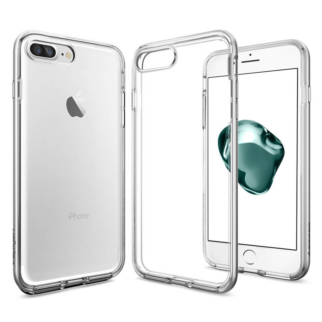 Spigen® Neo Hybrid Crystal™ SGP 043CS20684 iPhone 7 Plus Case - Satin Silver